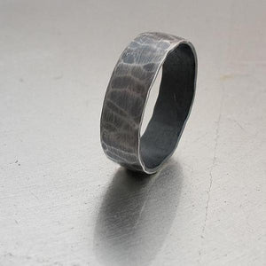 Oxidised Sterling Silver Promise rings