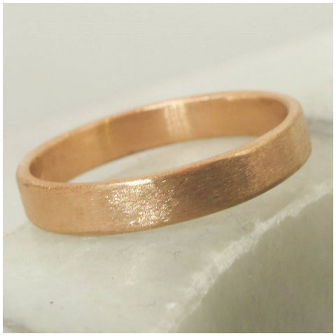 Rose gold textured ring
