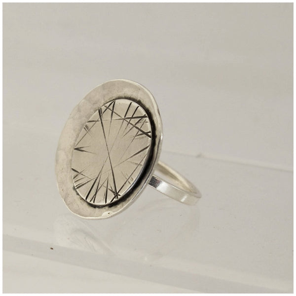 sterling silver statement dress ring