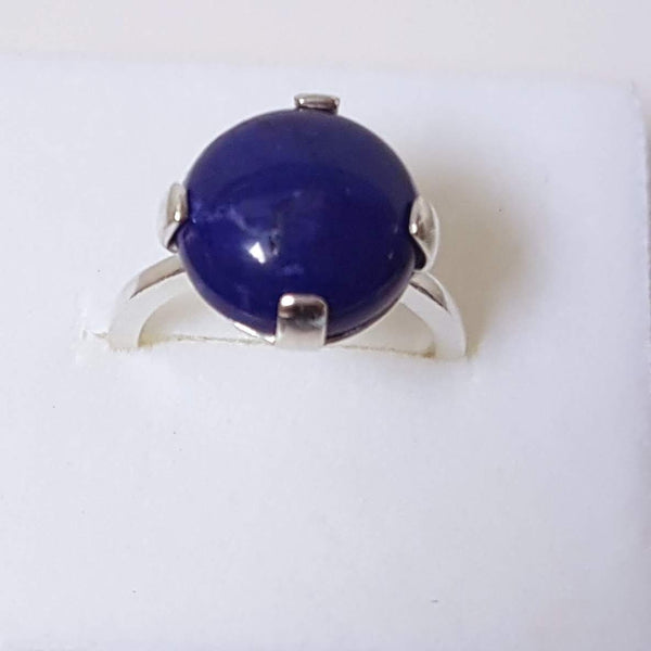 Lapis Blue Sterling silver Statement ring