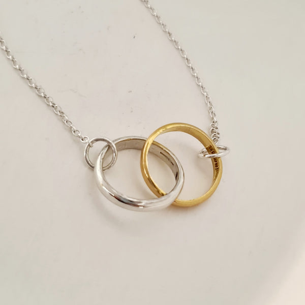 Interlocking Gold and Silver necklace