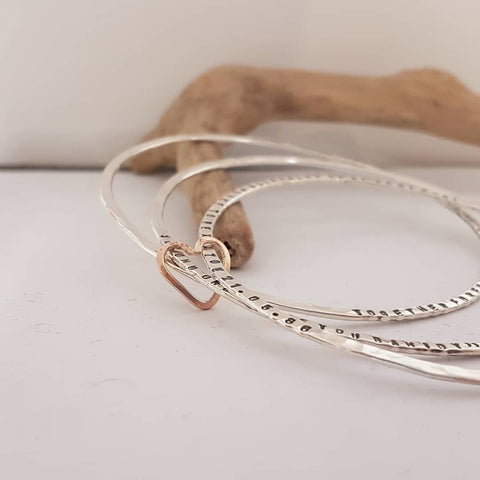 Personalised triple bangle
