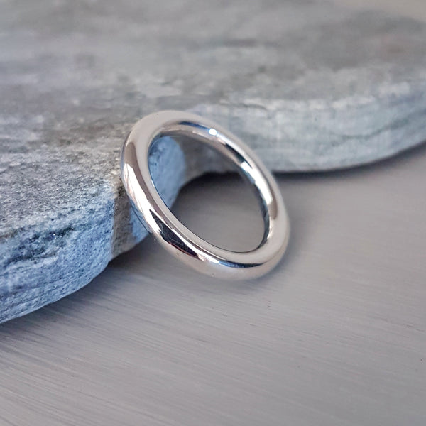 Silver halo wedding ring - Elizabeth Tordoff Jewellery