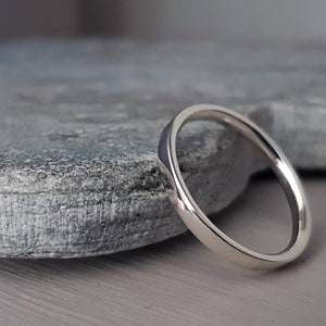 Silver wedding ring - Elizabeth Tordoff jewellery