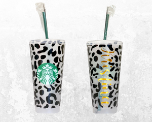 Personalized Cheetah Starbucks Cup