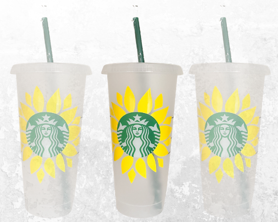 Personalized Sunflower Logo Starbucks Cup