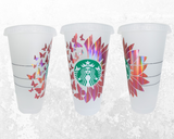 Personalized Starbucks Butterfly Sunflower Cup