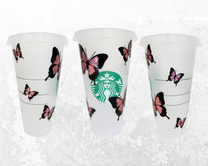 Personalized Butterfly Starbucks Cup