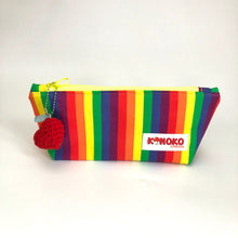 Pride Pouch with Red Heart Amigurumi Charm