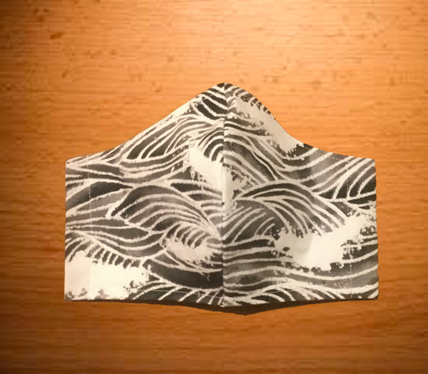 Hokusai Wave Face Mask