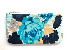 Blue Bouquet Travel Clutch