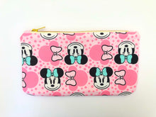 Minnie Mint Bows Travel Clutch