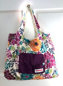 Jewel Floral Folding Eco-Tote