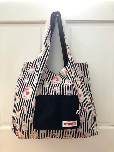 Lolita Stripe Sweets Folding Eco-Tote