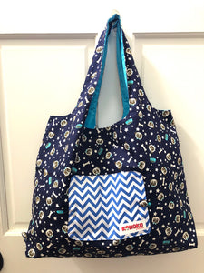 Pug Star Folding Eco-Tote