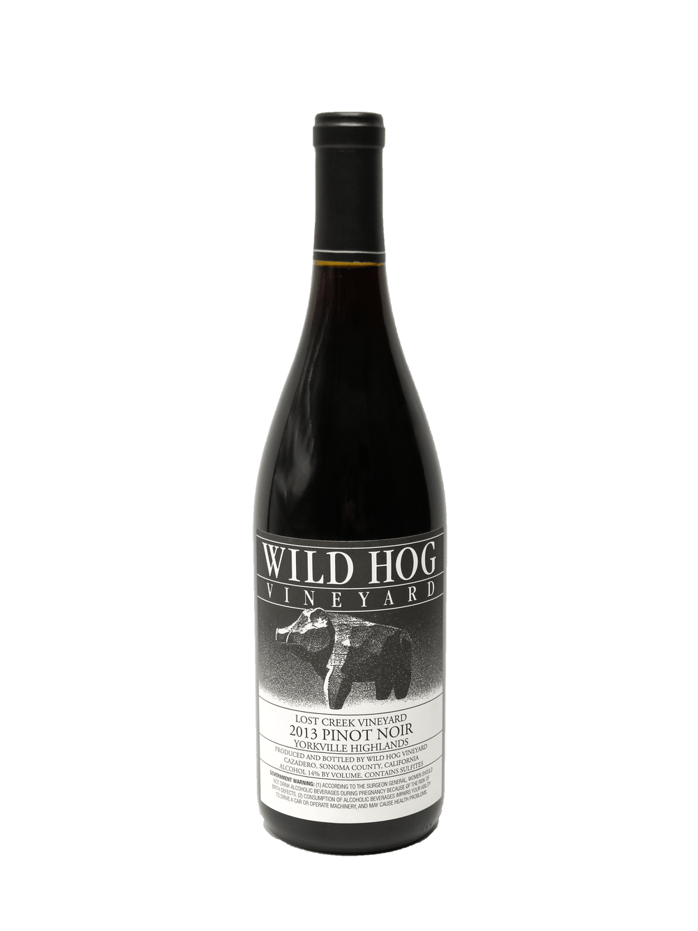 2013 Wild Hog Lost Creek Vineyard Yorkville Highlands Pinot Noir