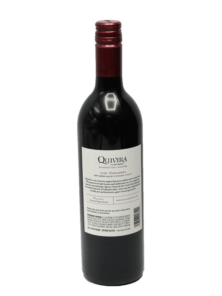 2016 Quivira Vineyards Dry Creek Valley Zinfandel