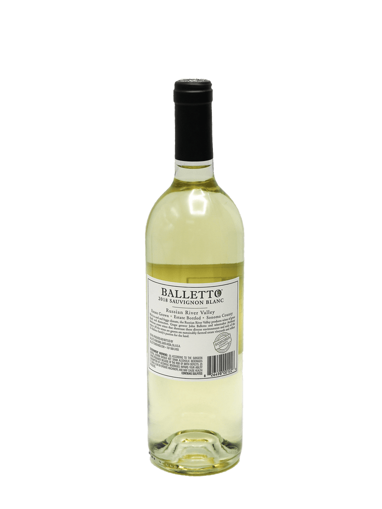 2018 Balletto Russian River Valley Sauvignon Blanc