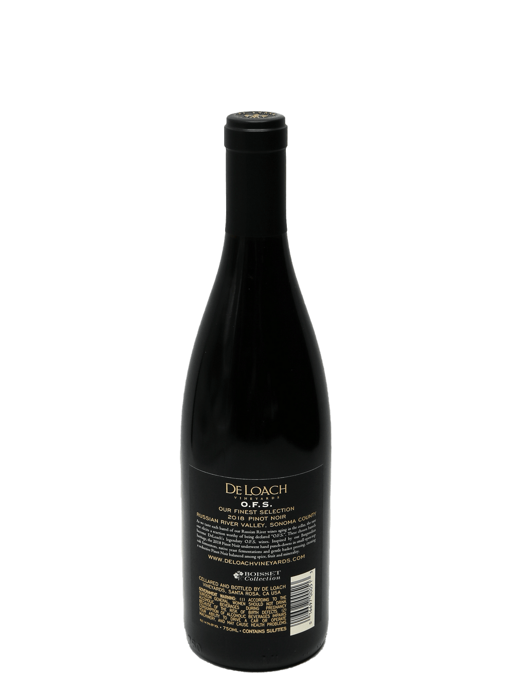 2018 DeLoach Pinot Noir OFS Russian River Valley