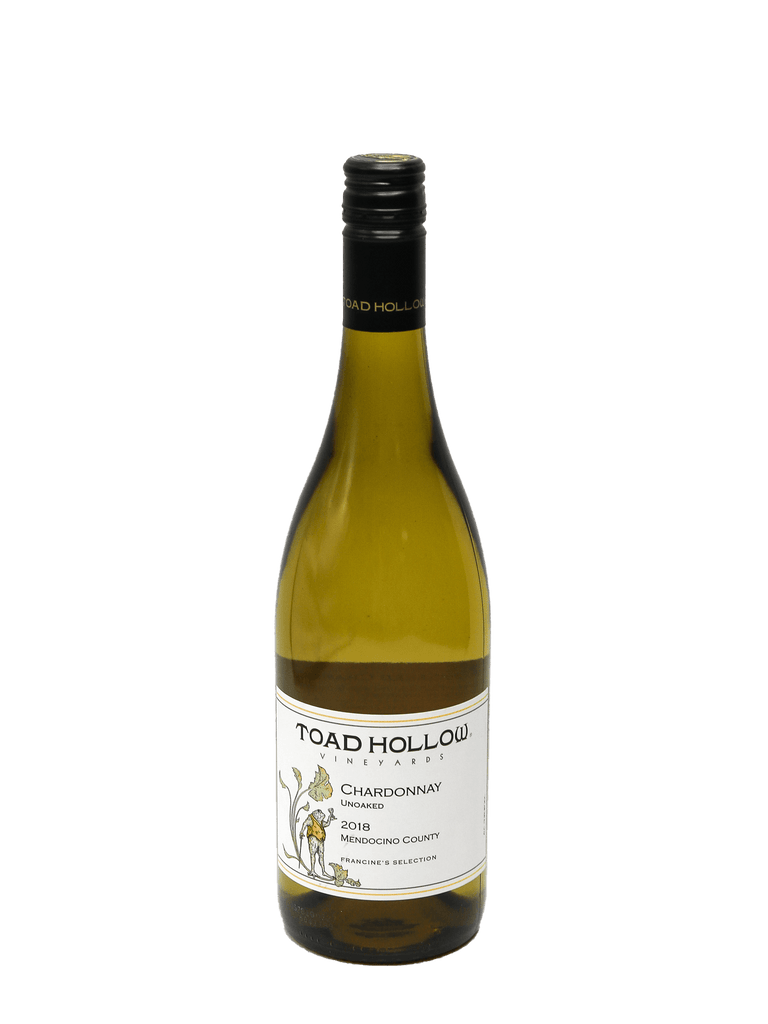2018 Toad Hollow Mendocino County Francine's Selection Unoaked Chardonnay