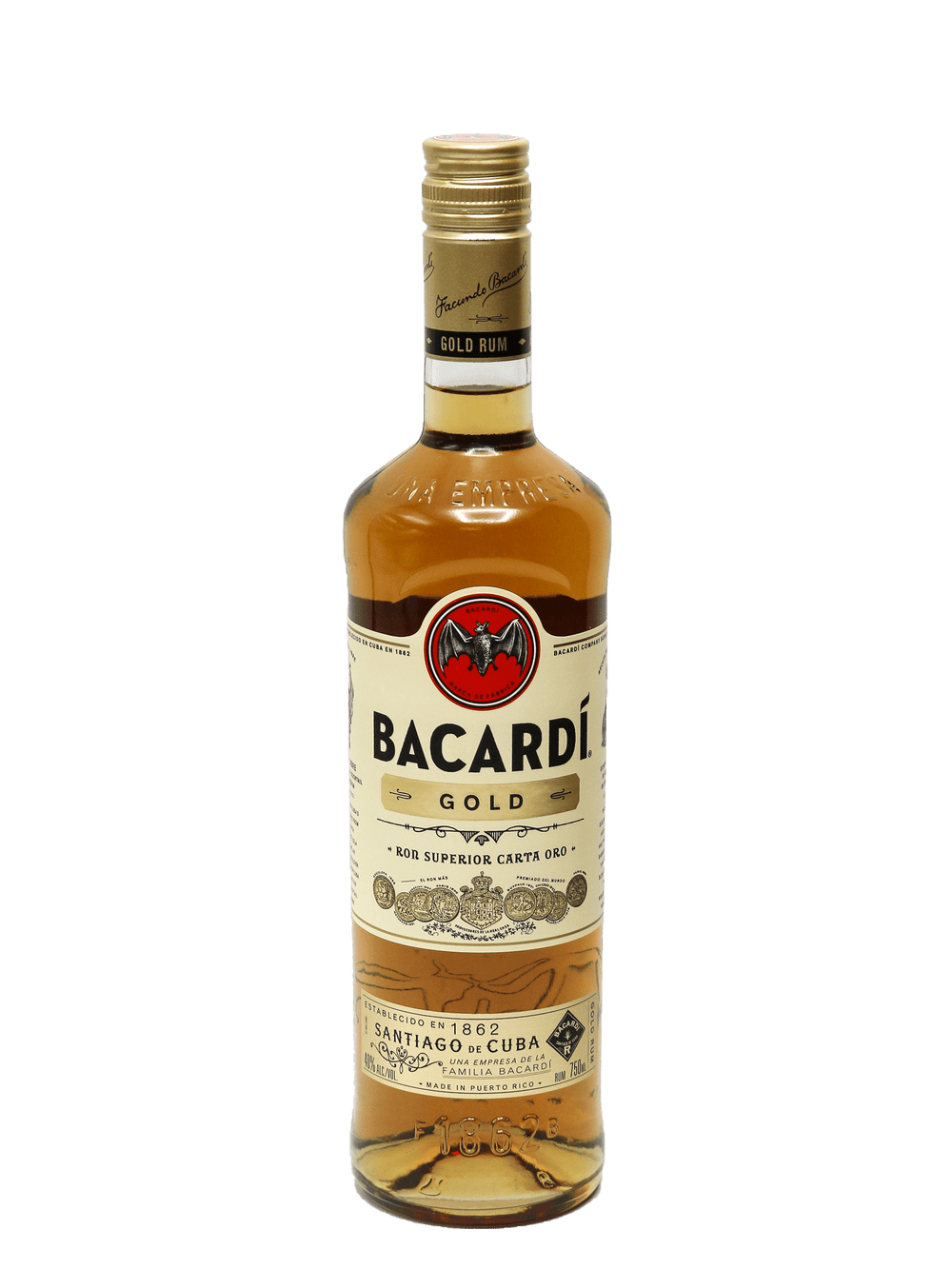 Bacardi Gold Dark Rum 750ml