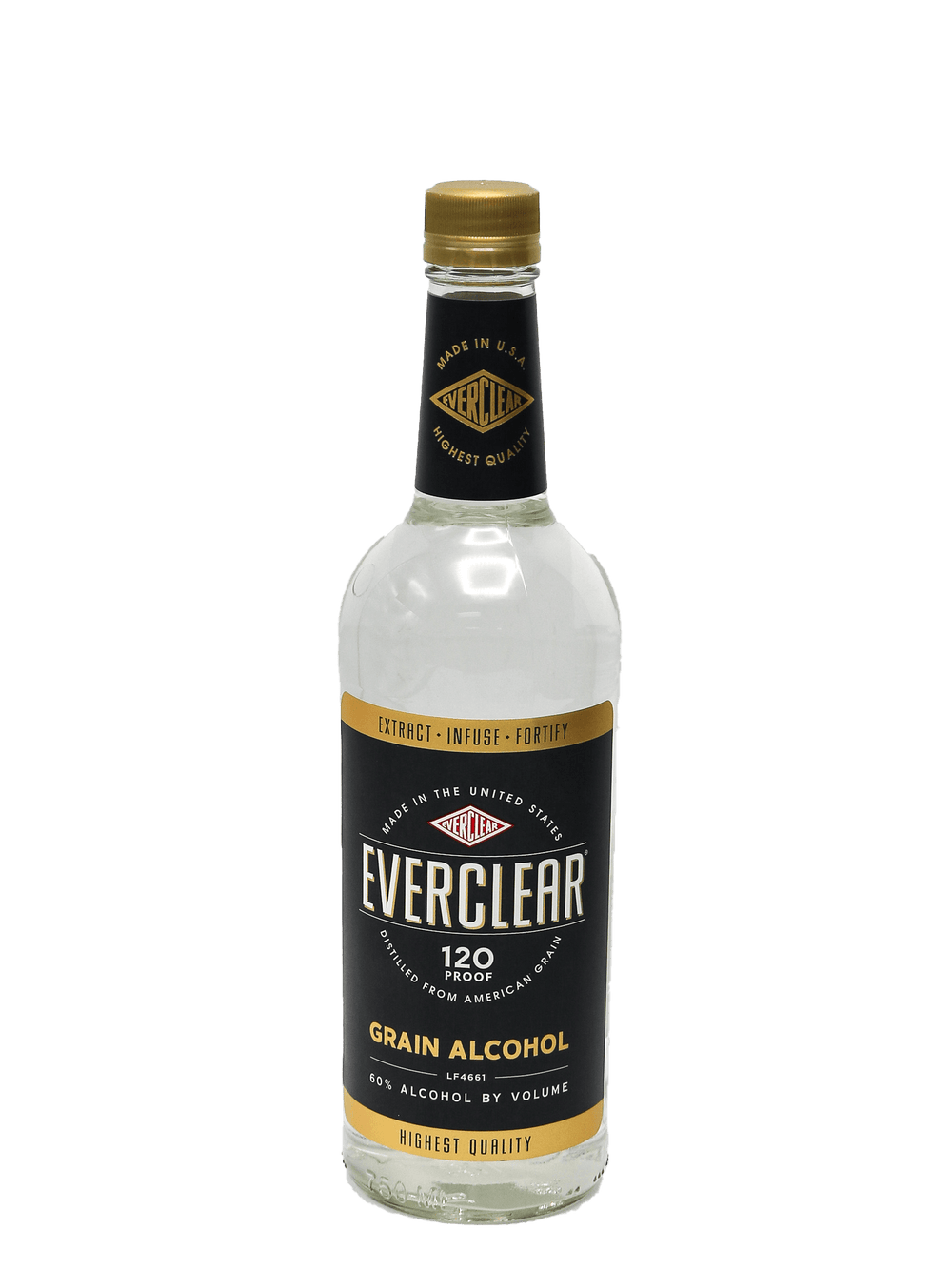 Everclear Grain Alcohol 120 Proof 750ml