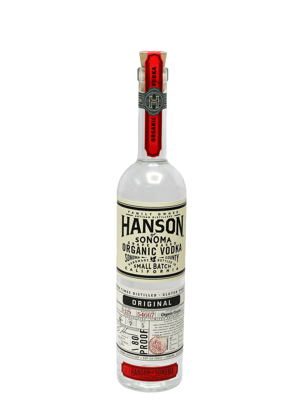 Hanson of Sonoma Organic Original Vodka 750ml