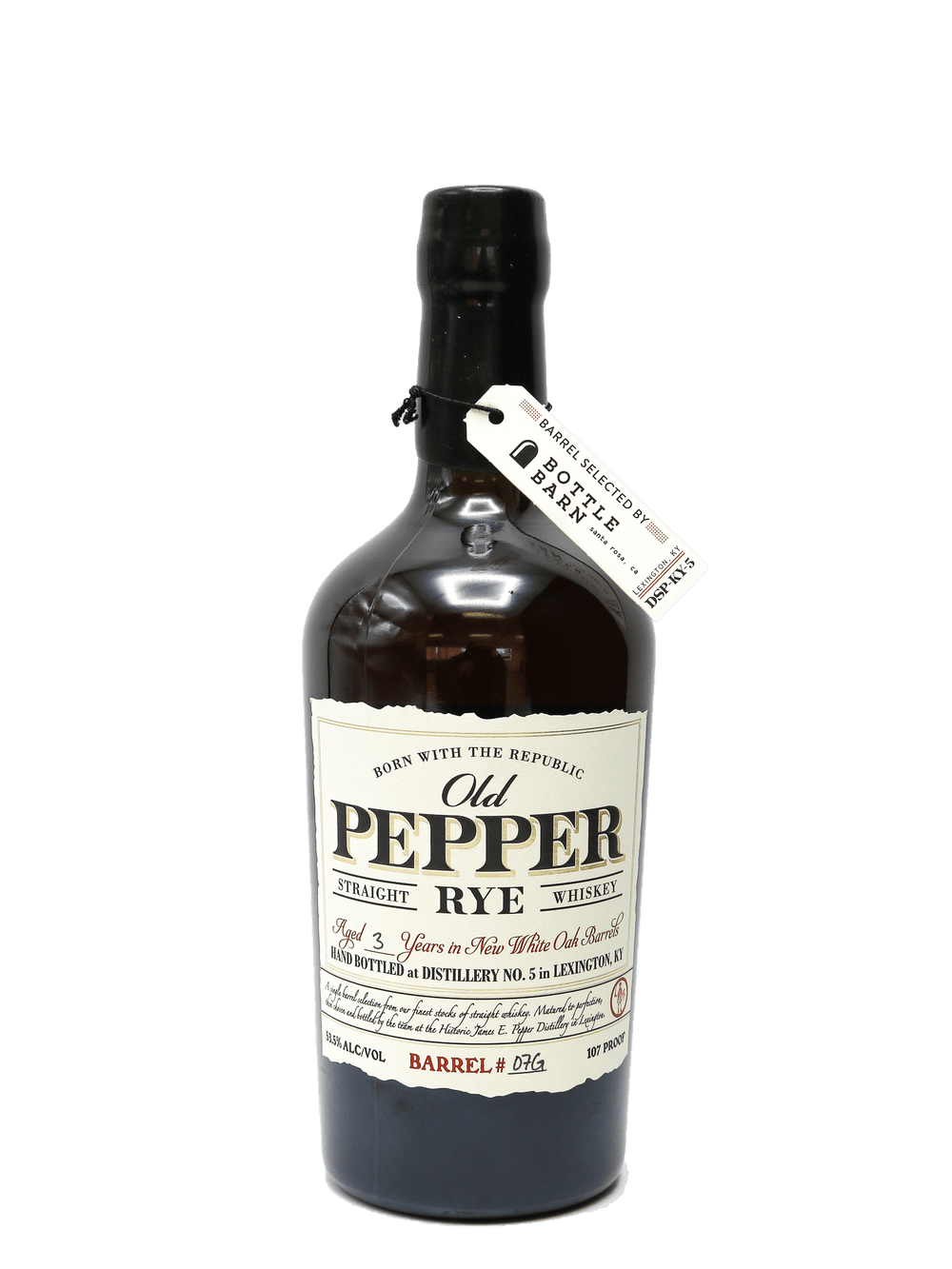 Old Pepper Straight Rye Whiskey 3 Year Single Barrel 750ml