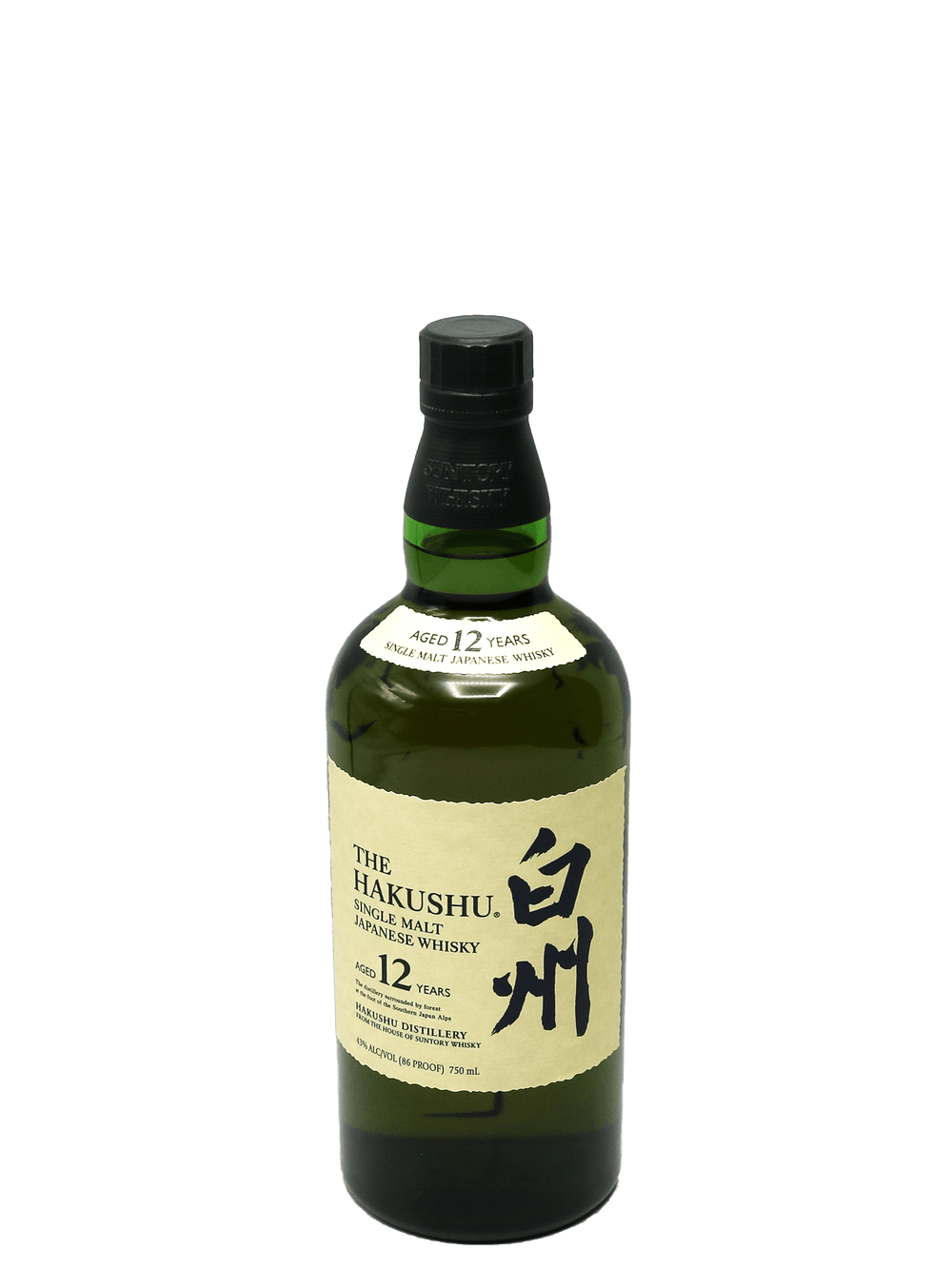 The Hakushu 12 Year Single Malt Japanese Whiskey 750ml