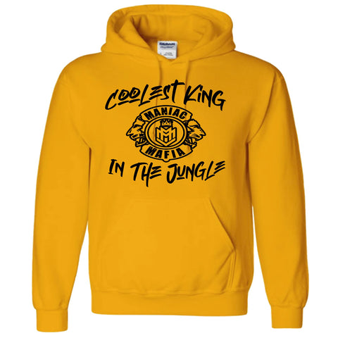 Coolest King in the Jungle Yellow Maniac Hoodie