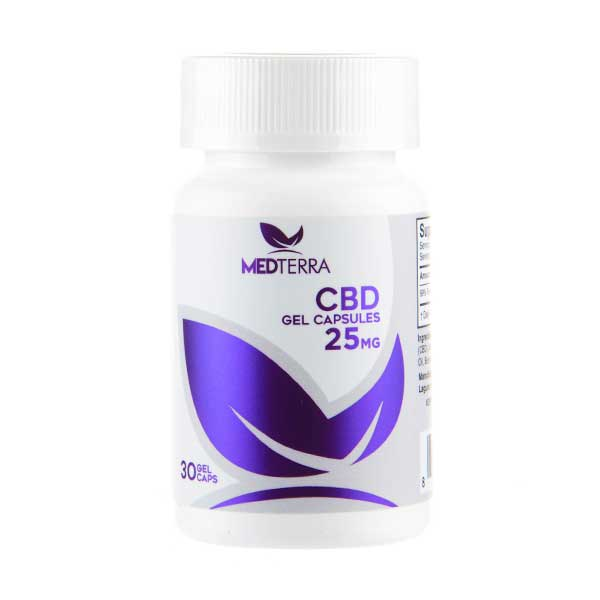 CBD 25mg Gel Capsules by Medterra
