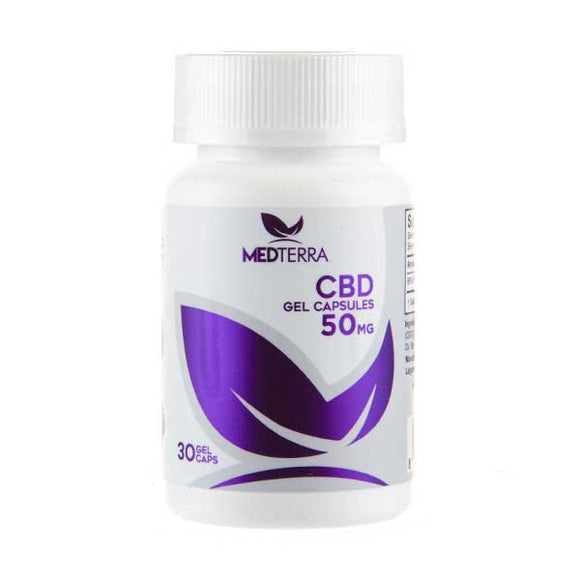 CBD 50mg Gel Capsules by Medterra