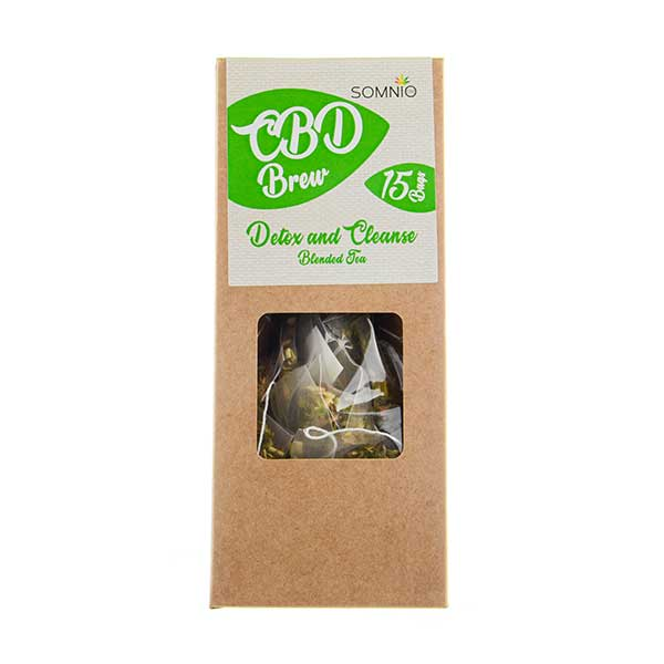 CBD Brew Blended Tea Detox and Cleanse by Somnio
