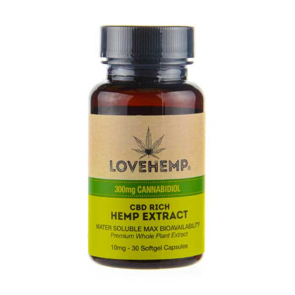 CBD Rich Hemp Extract 30 Softgel Capsules Love Hemp