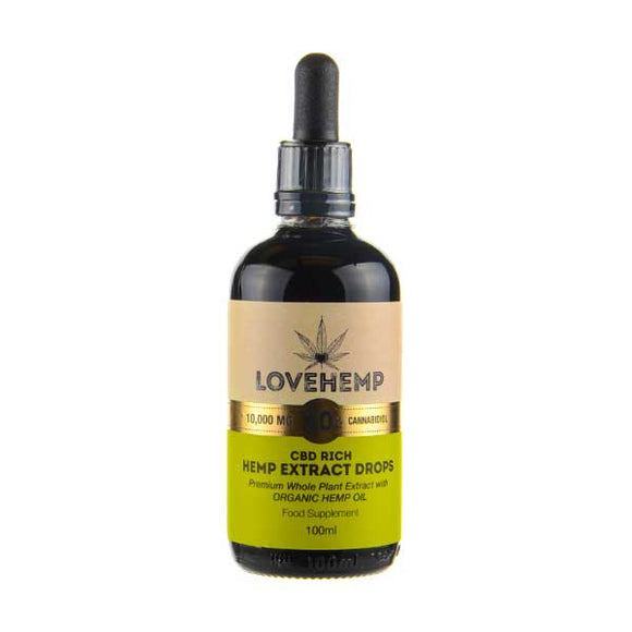 CBD Rich Organic Natural Hemp Oil by Love Hemp