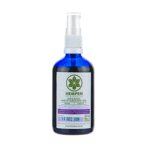 Organic Hemp Relaxing Moisturising Oil by Hempen Co-Operative