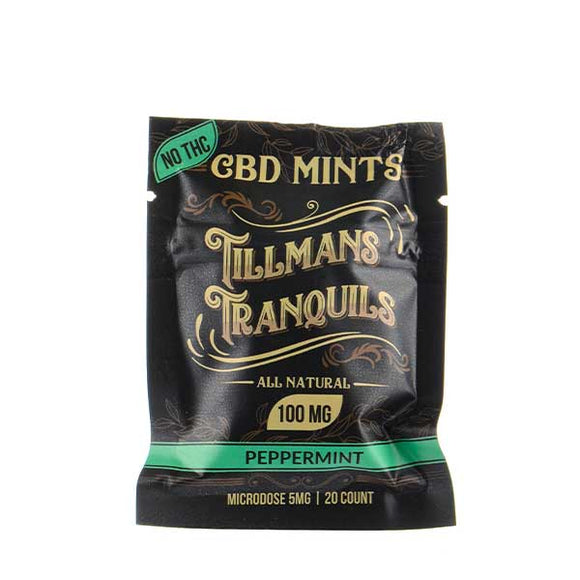 Peppermint CBD Mints by Tillmans Tranquils