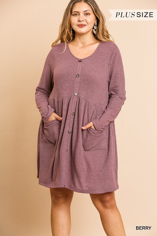 Berry in Love Dress - Plus