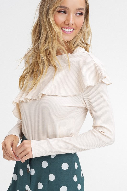 Playing You Ruffle Top