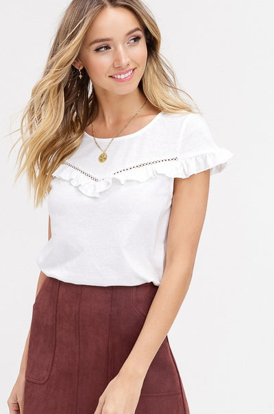 Unanswered Questions Ruffle Top