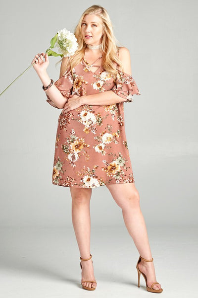 Sass and Fun Floral Plus Dress