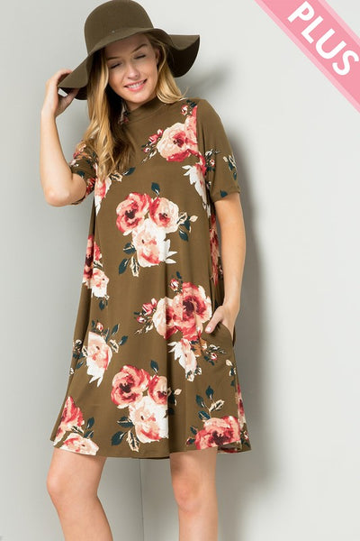 All About Floral Dress - Plus