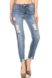 Set Yourself Apart Distressed Jeans