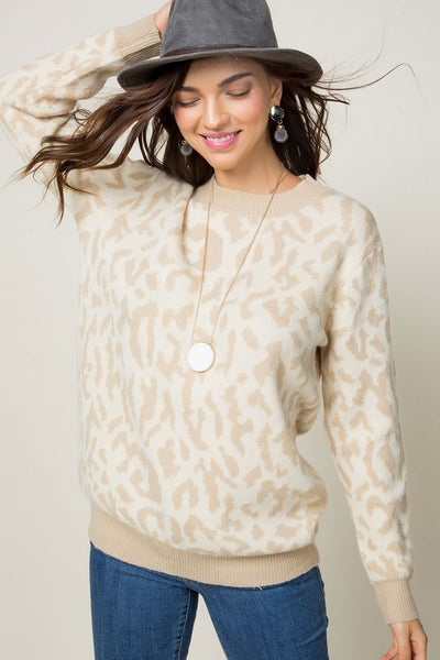 Life is Crazy Leopard Sweater