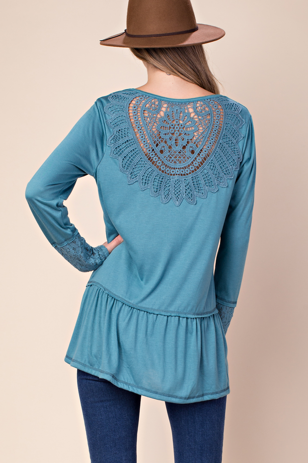 No Need to Worry Lace Top