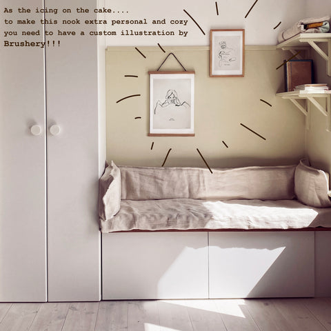 nook ikea hack bestå jotun kids room