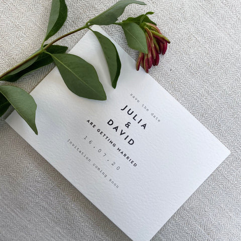 save the date clean exclusive wedding invitation