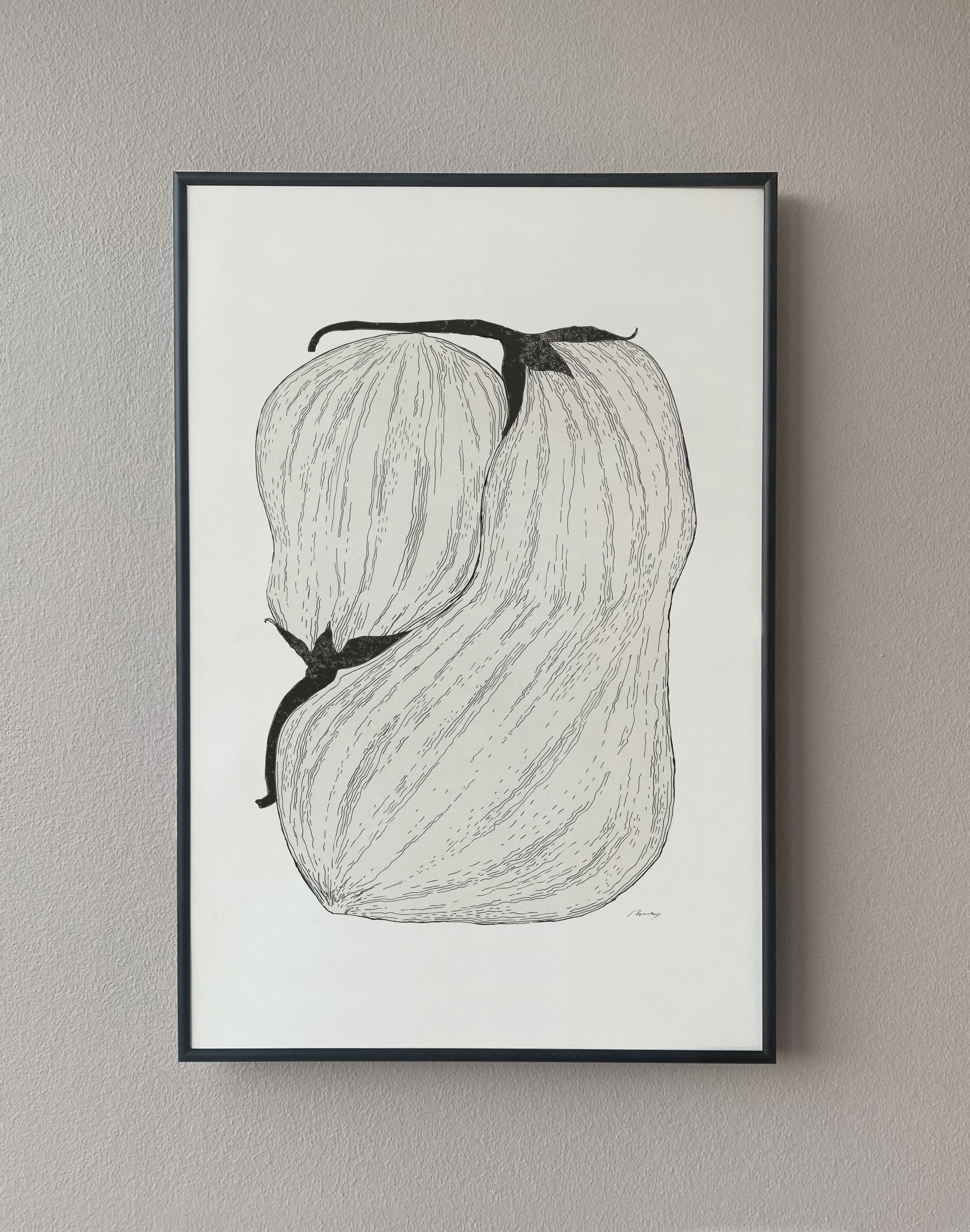 Aubergine illustration poster