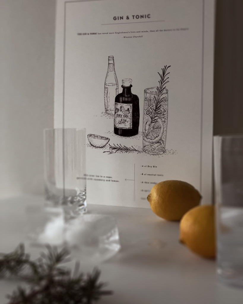 gin and tonic poster recipe recept