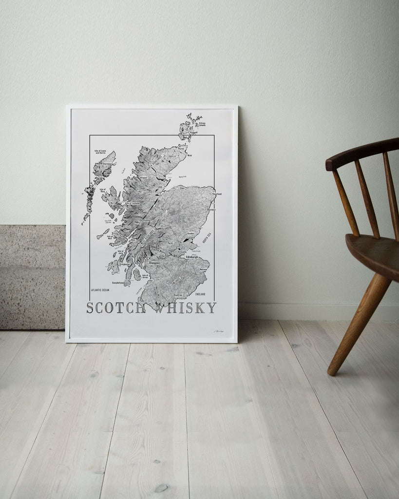 scotch whisky map destillery